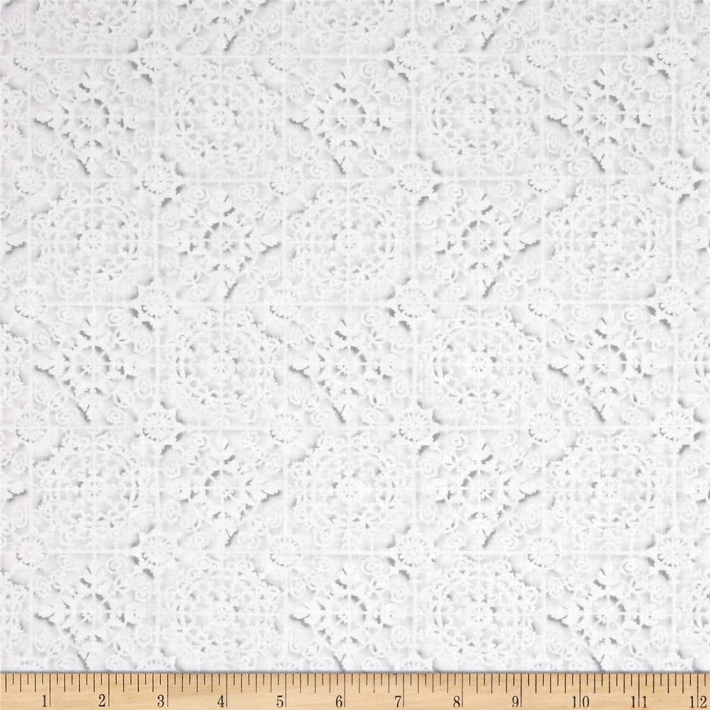 Kanvas White Out White Tiles Lt. Gray/White