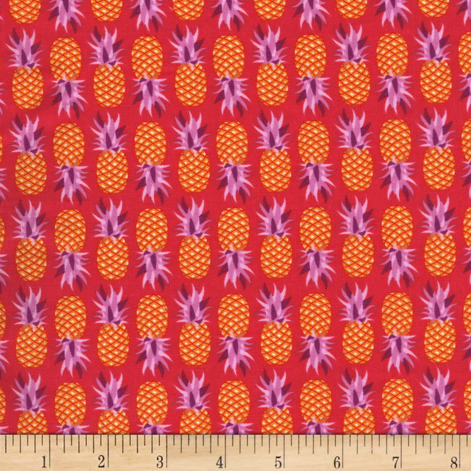 Image of Michael Miller Cuban Beat Party Like A Pineapple Salsa Fabric