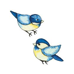 Wrights Iron On Appliques 2/Pkg Blue Birds