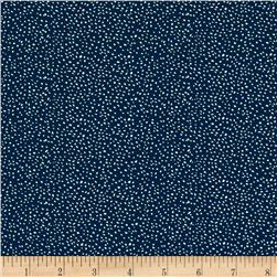 Sweet Florals Scattered Dot Navy