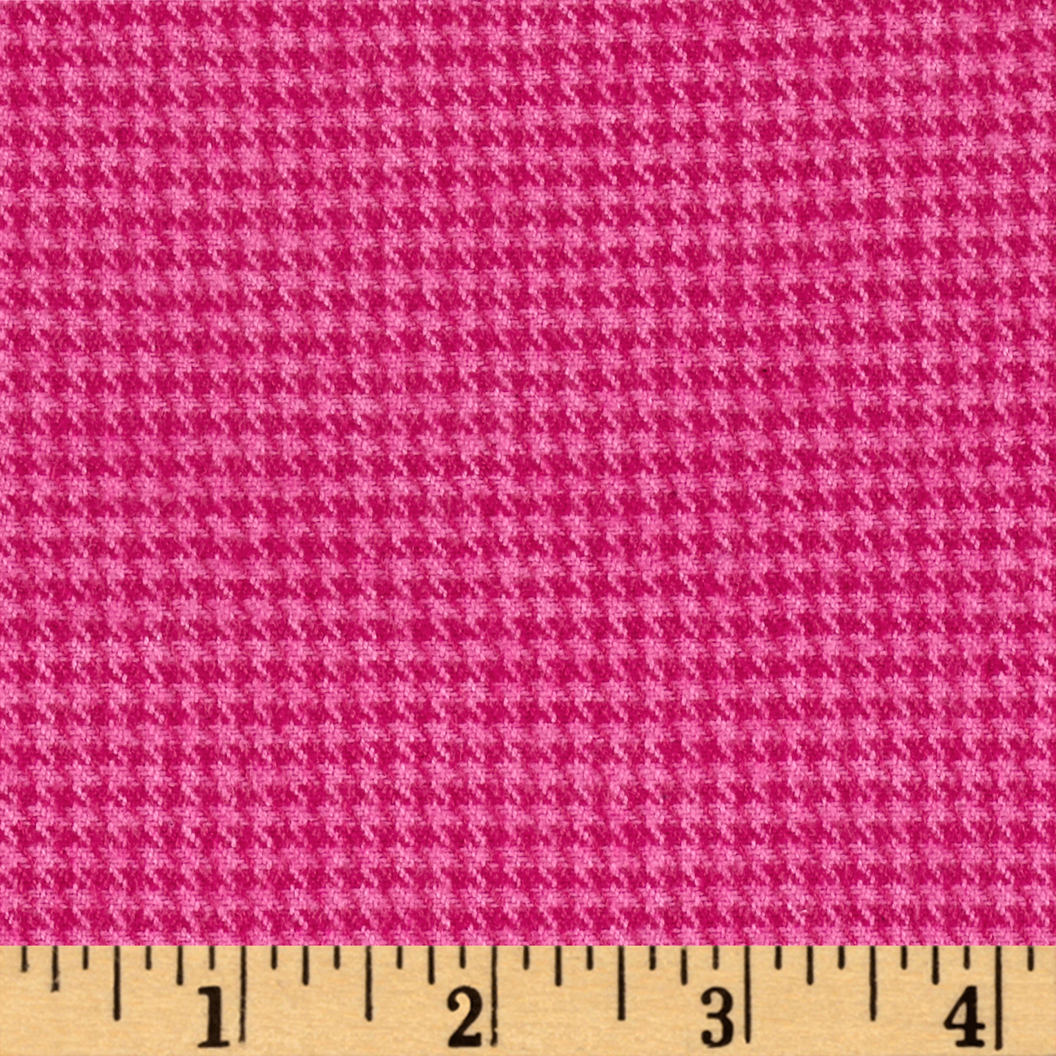 Marcus Primo Plaids Color Crush Flannel Houndstooth Fuchsia Fabric by Marcus in USA
