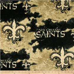 NFL Fleece New Orleans Saints Black Fabric