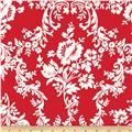 Riley Blake Lost and Found 2 Home Decor Damask Red