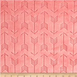 Shannon Minky Cuddle Embossed Arrow Coral