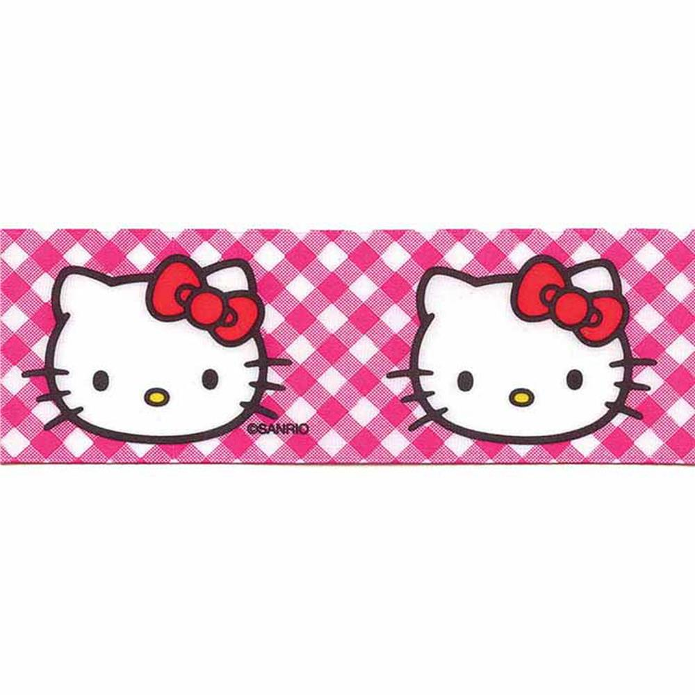 7/8'' Hello Kitty Gingham Ribbon Pink