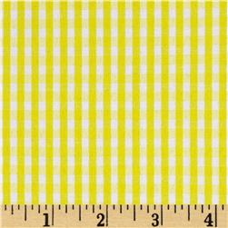 Cotton Blend Woven 1/8'' Gingham Yellow