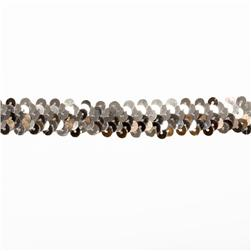 1'' Stretch Sequin Trim Silver