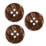 Genuine Coconut Button 5/8'' Amazon Dusty Coconut
