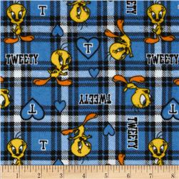 Tweety Flannel Plaid Blue
