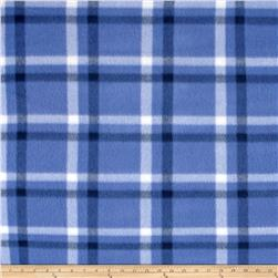 Polar Fleece Print Club Plaid Blue