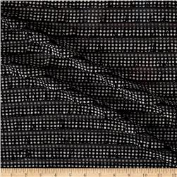 International Designer Ruffled Dots Black/Silver