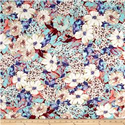 Rayon/Cotton Jersey Knit Floral Multi