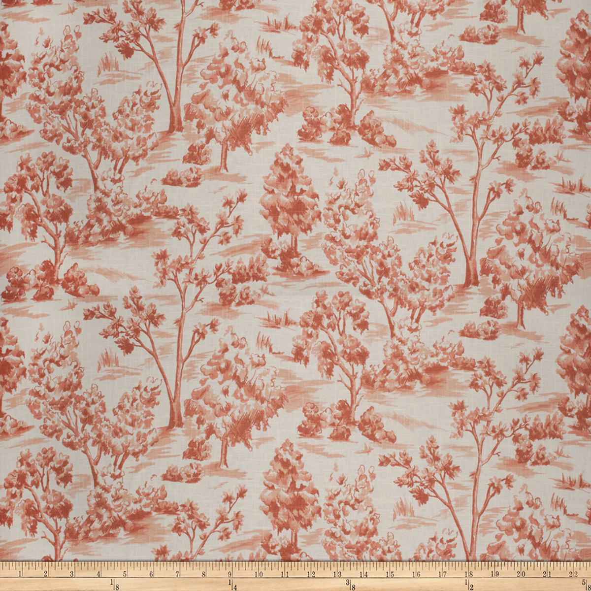 French General Arbe Toile Linen Blend Sienna Fabric