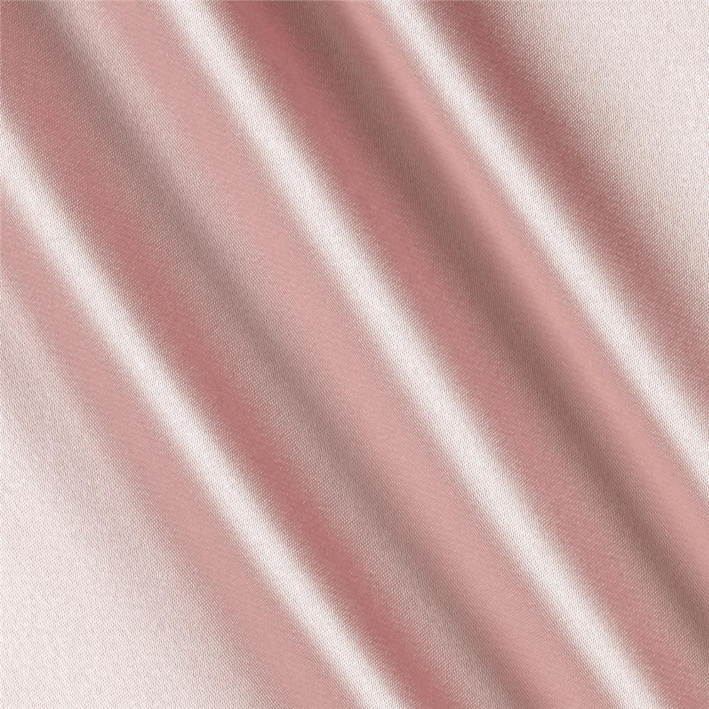 Silky Satin Charmeuse Solid Dusty Pink Fabric By The Yard