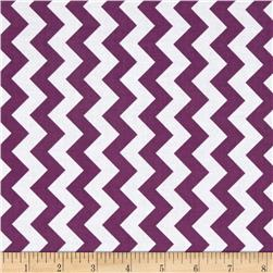 Riley Blake Small Chevron Purple Fabric