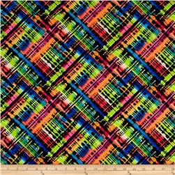 Torn Rainbow Printed Athletic Knit Orange/Multi
