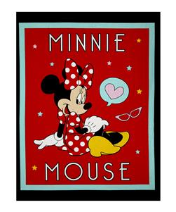 "Disney Minnie Traditional Minnie Mouse 36"" Panel Black"