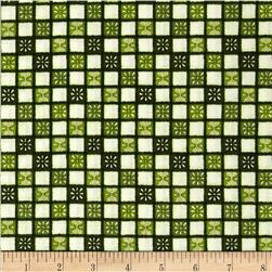 My Farmhouse Kitchen Towel Check Green