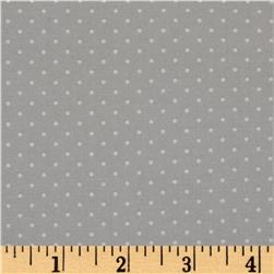 Moda Sugar Plum Christmas Christmas Dot Mouse Grey