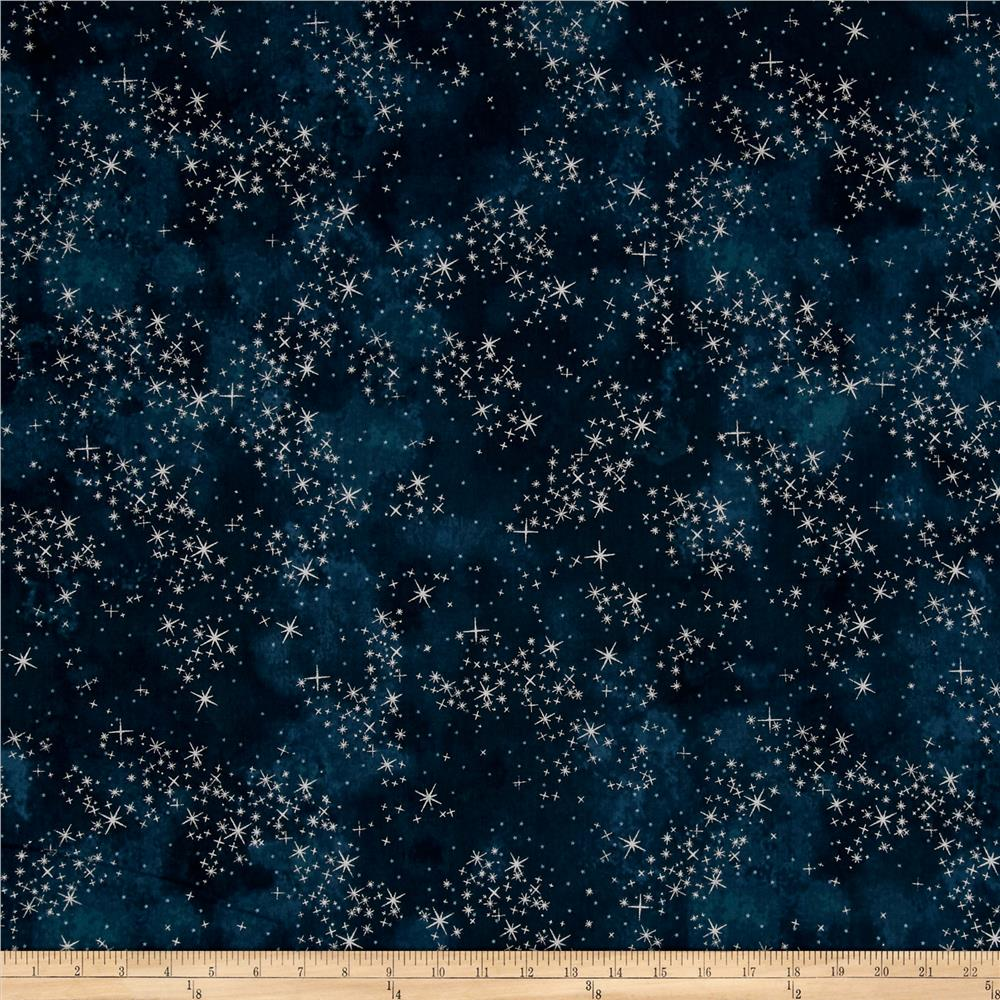 Kaufman Sugar Plum Metallic Twinkle Midnight