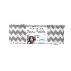 Red Heart Boutique Sassy Fabric Grey Chevron