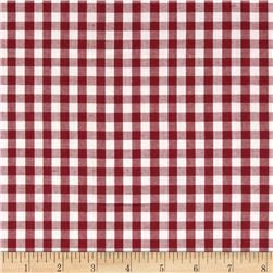 Gingham 1/4 In. Checks Galore Burgundy
