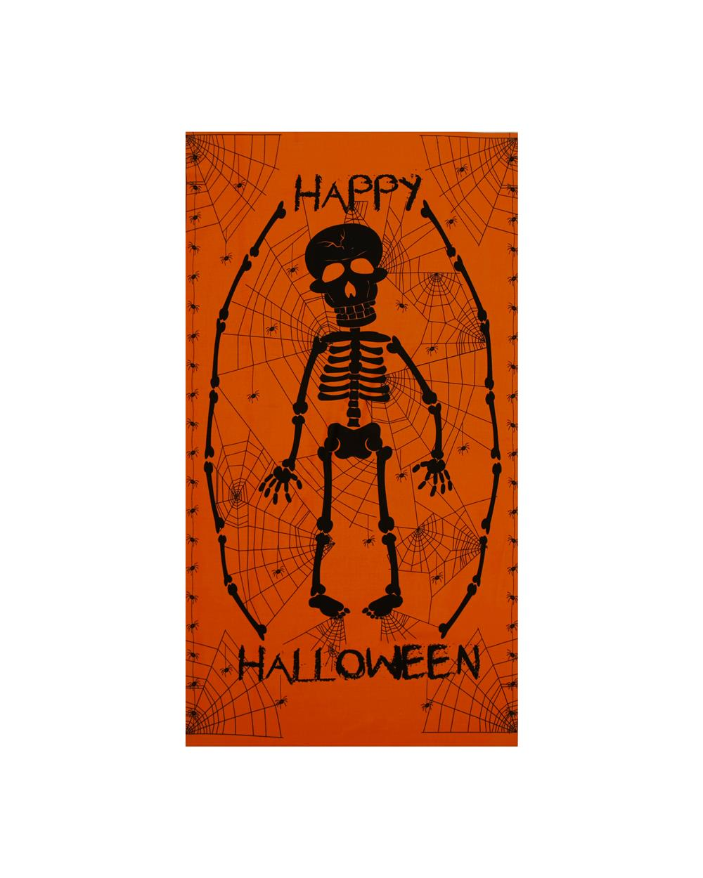 The Boo Crew Skeleton 24 In. Panel Orange