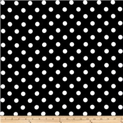 RCA Polka Dots Blackout Drapery Fabric Black