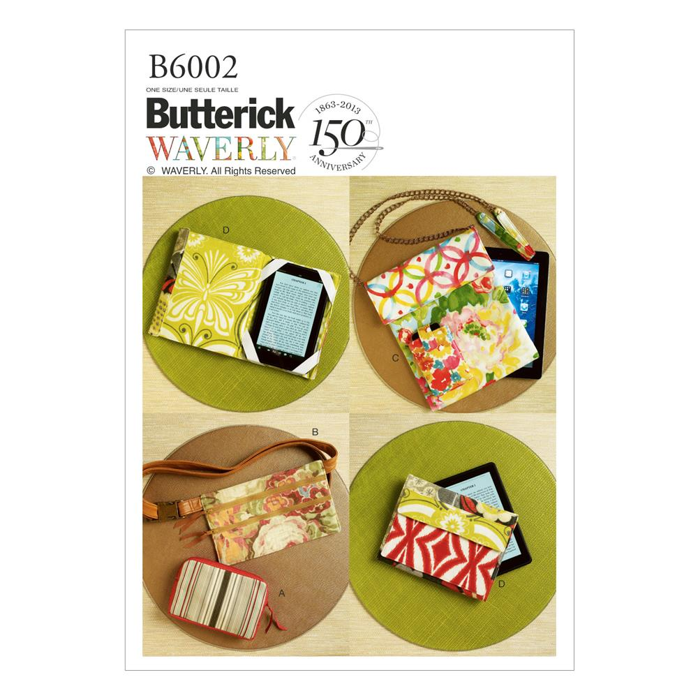 Butterick Zipper Case, Belly Bag and Electronic Device Cases Pattern B6002 Size OSZ