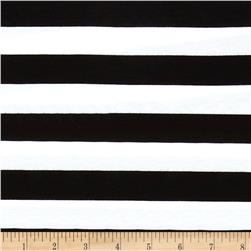 "Riley Blake Jersey Knit 1"" Stripes Black"
