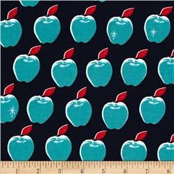 Cotton + Steel Picnic Apples Navy