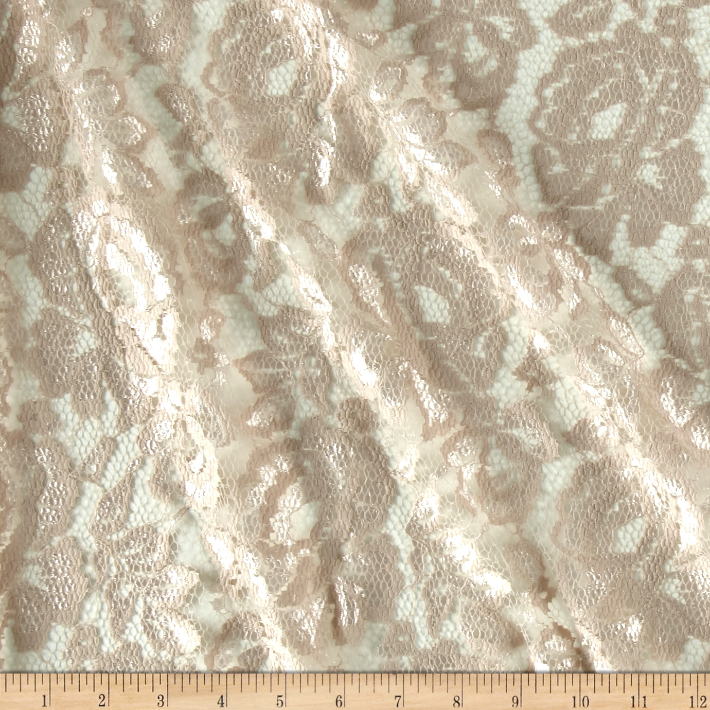 Designer Lace Rose Blush Fabric by Fabric Merchants in USA