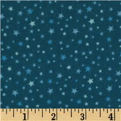 Riley Blake Round Up Flannel Star Blue