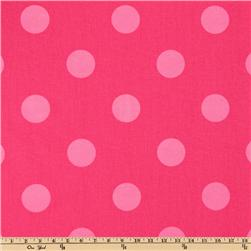 Premier Prints Oxygen Dots Candy Pink/Pink Fabric