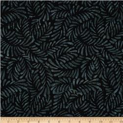 Batavian Batiks Feathers Black