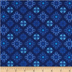 Sing the Blues Tile Navy