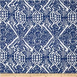 Designer Rayon Culture Print White/Blue
