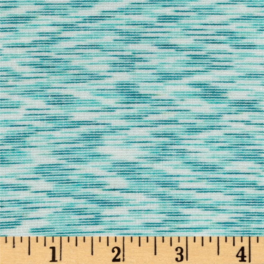 Space dye french terry jersey knit mint discount for Space fabric by the yard
