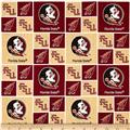 Collegiate Cotton Broadcloth Florida State University Garnet