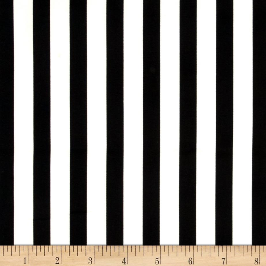 Harlequin Stretch Cotton Sateen Stripes Black/White