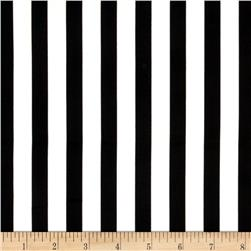 Telio Harlequin Stretch Cotton Sateen Stripes Black/White