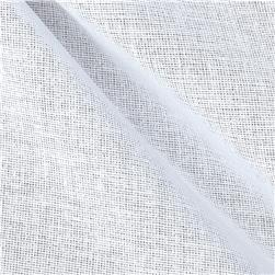 25'' Buckram White Fabric