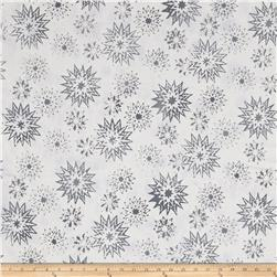 Timeless Treasures Tonga Batik Rose Snowflake Mix Cloud