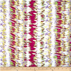 Rayon Challis Painterly Magenta Fabric