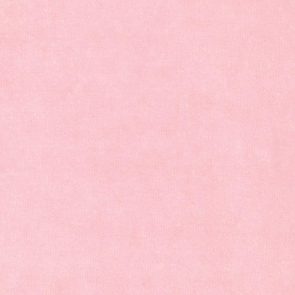 Cotton Poly Terry Velour Knit Light Pink