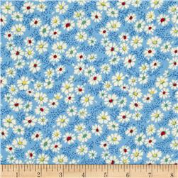 Summer Days Daisies Blue