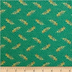 Asian Fanfare Small Peacock Feathers Multi/Aqua