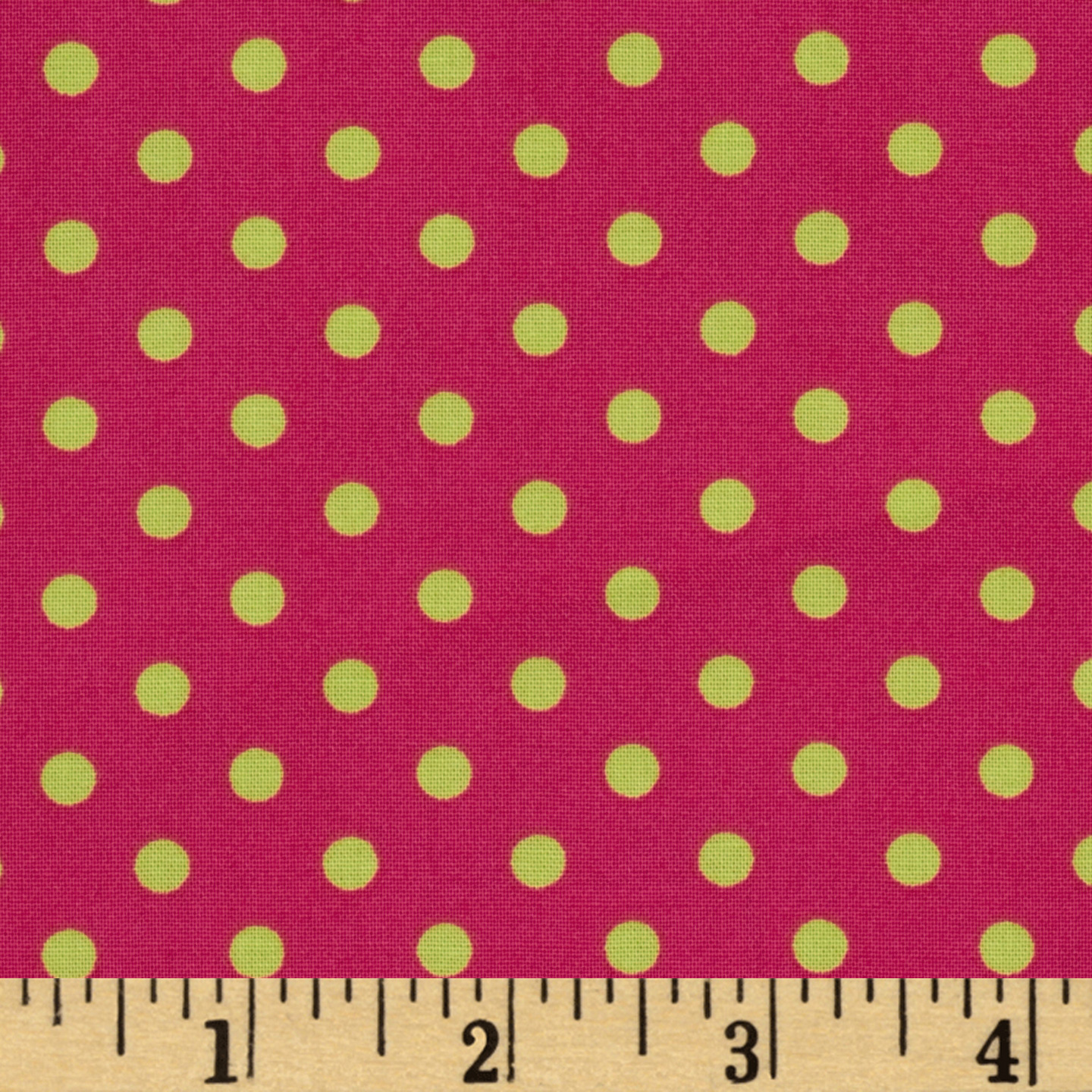 Michael Miller Dumb Dot Sorbet Watermelon Pink Fabric