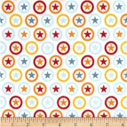 Riley Blake Lucky Star Flannel Circle Cream
