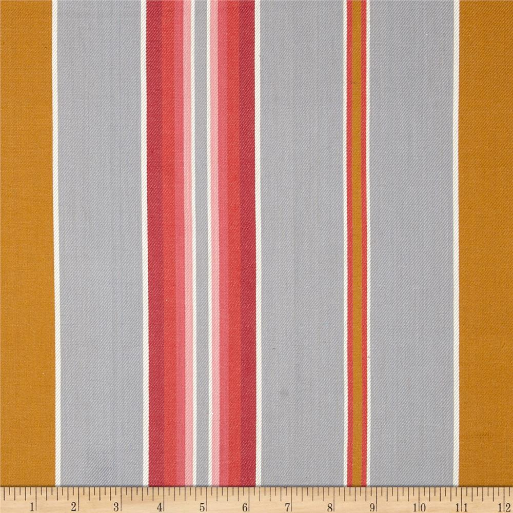 Kaufman Serape Stripes Shirting Grey